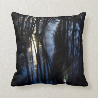 Moonlight river throw pillow