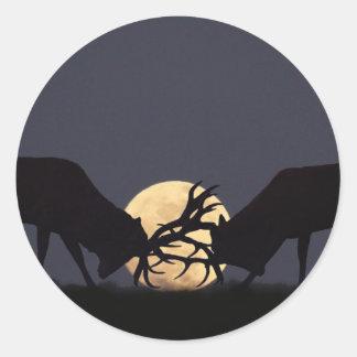 Moonlight Rut Classic Round Sticker