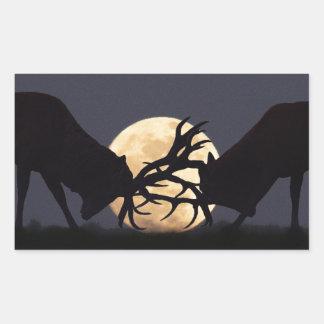 Moonlight Rut Rectangular Sticker