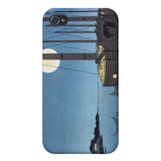 Moonlight Scene on a River With Boats, Hiroshige iPhone 4 Cover