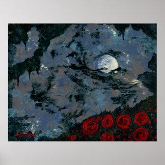 MOONLIGHT SERENADE (moon night sky art - large) ~ Poster