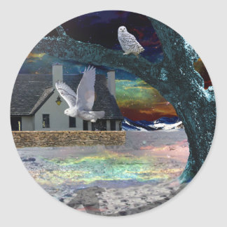 Moonlight Shadow Classic Round Sticker