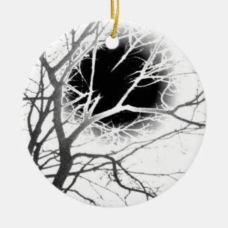 Moonlight Silhouette Ceramic Ornament