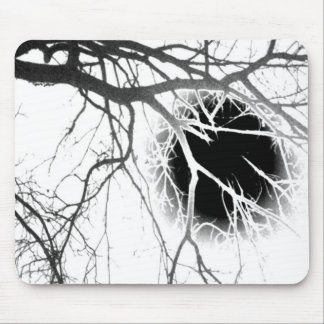 Moonlight Silhouette Mouse Pad