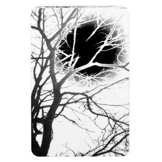Moonlight Silhouette Rectangular Photo Magnet