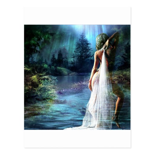 MOONLIGHT SKINNY~DIP.jpg Postcard