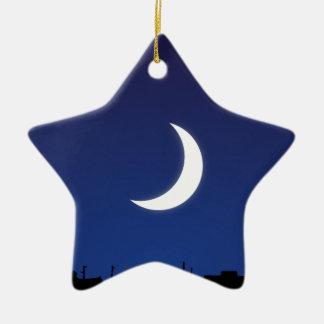 Moonlight sky ceramic ornament