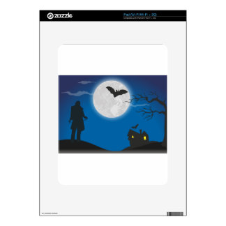 Moonlight sky decal for the iPad