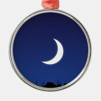 Moonlight sky metal ornament