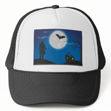 Halloween Themed Moonlight sky trucker hat