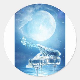 Moonlight Sonata Classic Round Sticker