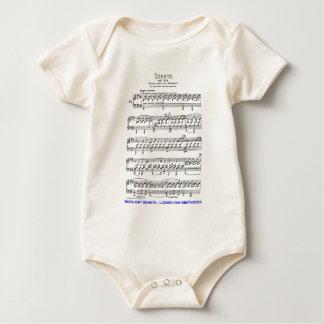 Moonlight-Sonata-Ludwig-Beethoven Baby Bodysuit