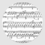 Moonlight-Sonata-Ludwig-Beethoven Classic Round Sticker