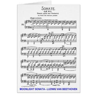 Moonlight-Sonata-Ludwig-Beethoven Greeting Card