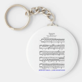 Moonlight-Sonata-Ludwig-Beethoven Keychain