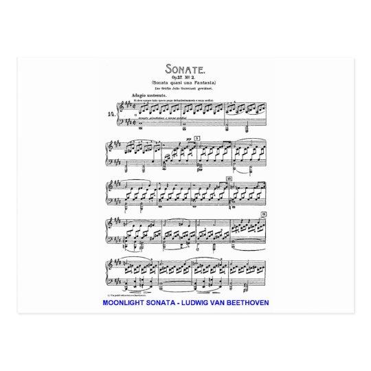 Moonlight-Sonata-Ludwig-Beethoven Postcard