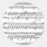 Moonlight-Sonata-Ludwig-Beethoven Round Sticker