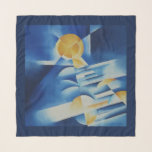 """Moonlight Sonata Scarf<br><div class=""""desc"""">Moonlight Sonata – Part of my ongoing series about participating in music. I feel music deeply, but I can't play nearly as well as I would like, so I get the sensation through painting – capturing on canvas the sensation of listening to a musical performance, and how it might feel...</div>"""