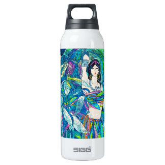 Moonlight Song Hao Ping oriental abstract lady art 16 Oz Insulated SIGG Thermos Water Bottle