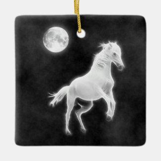 Moonlight Stallion Ceramic Ornament