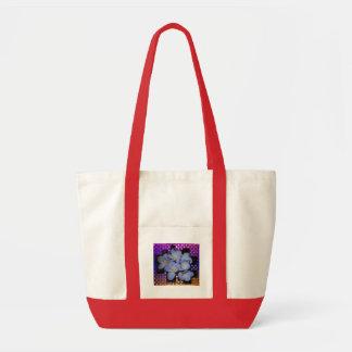 Moonlight Stardust Plumeria Weave Canvas Bag