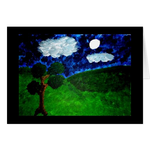 Moonlight Stationery Note Card