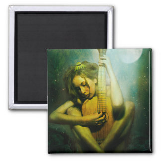 Moonlight Strings 2 Inch Square Magnet