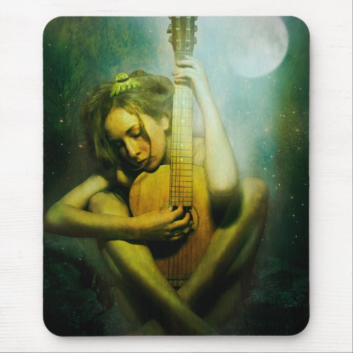 Moonlight Strings Mouse Pad