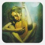 Moonlight Strings Square Sticker