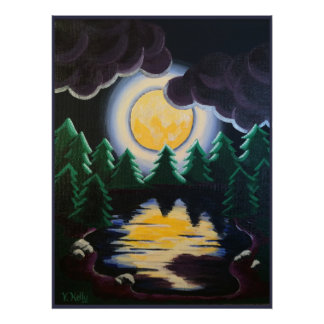"""""""Moonlight through the Pines"""" Poster"""
