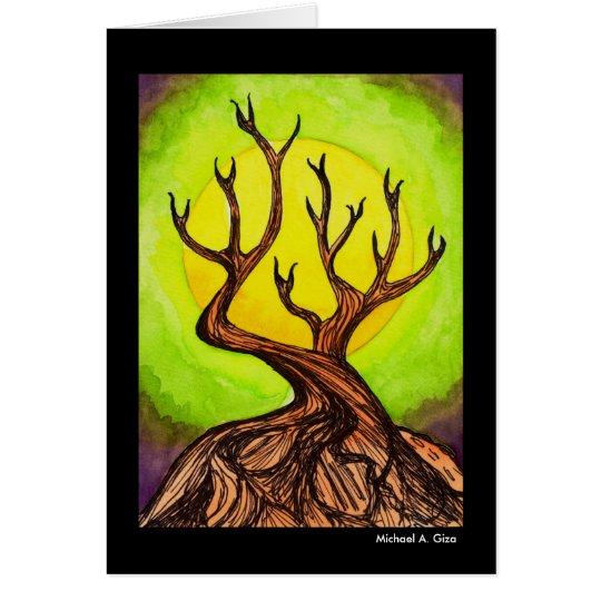 Moonlight Tree Card