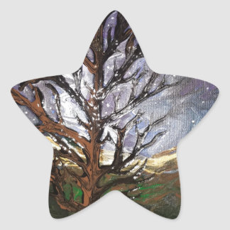 Moonlight Tree Star Sticker