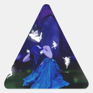 Moonlight Triangle Sticker