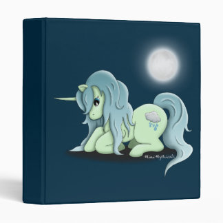 "Moonlight Unicorn 1"" 3 Ring Binder"