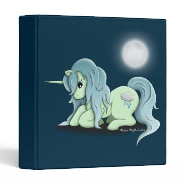 "Aztec Themed Moonlight Unicorn 1"" 3 Ring Binder"