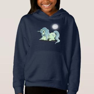 Moonlight Unicorn Girl's Hoodie Sweatshirt