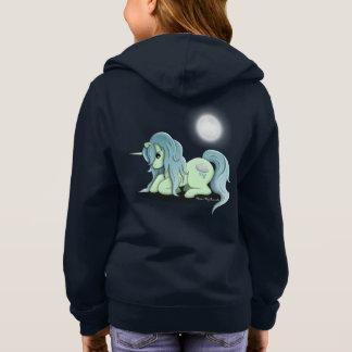 Moonlight Unicorn Girl's Zip Up Hoodie Sweatshirt