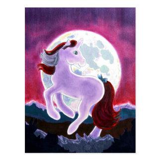 Moonlight Unicorn Postcard