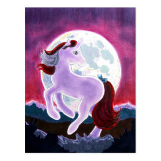 Moonlight Unicorn Postcards
