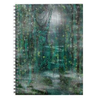 Moonlight & Vines Digital Dreamscape Art Spiral Note Books
