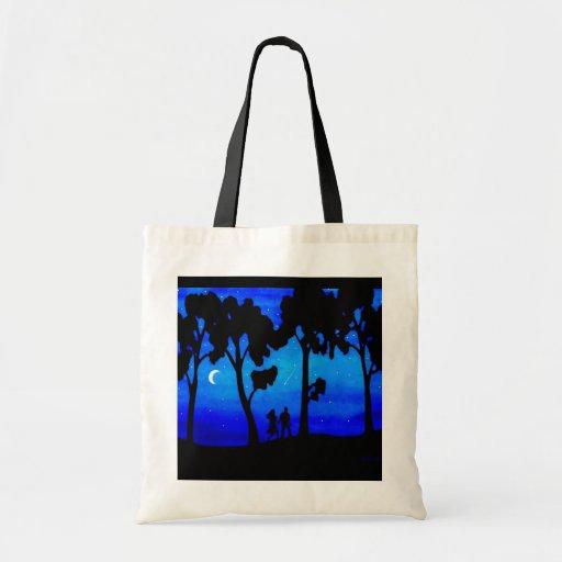 Moonlight Walk Canvas Bag