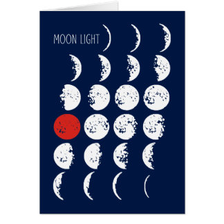 MOONLIGHT white & red + your ideas Card