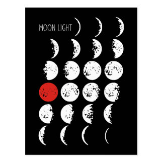 MOONLIGHT white & red + your ideas Postcard