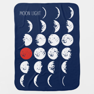 MOONLIGHT white & red + your ideas Receiving Blanket