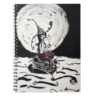 Moonlight Witchy Mermaid Fantasy Journal Spiral Notebook