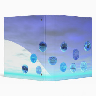 Moonlight Wonder, Abstract Journey to the Unknown 3 Ring Binder