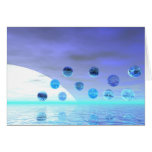 Moonlight Wonder, Abstract Journey to the Unknown Greeting Card