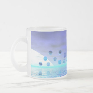 Moonlight Wonder, Abstract Journey to the Unknown Frosted Glass Coffee Mug