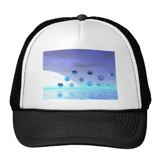 Moonlight Wonder, Abstract Journey to the Unknown Trucker Hat