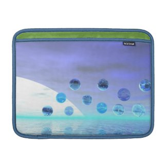 Moonlight Wonder, Abstract Journey to the Unknown Sleeve For MacBook Air